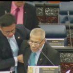 Ahli Parlimen Nibong Tebal rebah ketika berbahas di Dewan Rakyat