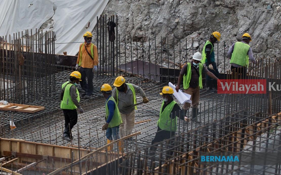 Tapak pembinaan catat kes positif di Kuala Lumpur diarah tutup